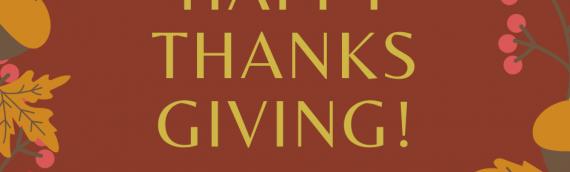 Happy Thanks Giving!