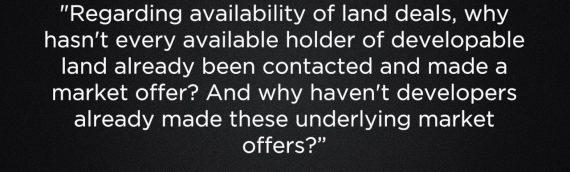 Q&A : Availability of Land Deals